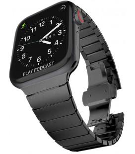 """Juoda apyrankė Apple Watch 1/2/3/4/5/6 (42/44mm) laikrodžiui """"Tech-Protect Linkband"""""""