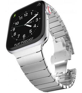 """Sidabrinės spalvos apyrankė Apple Watch 1/2/3/4/5/6 (42/44mm) laikrodžiui """"Tech-Protect Linkband"""""""