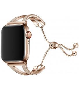 """Auksinės spalvos apyrankė Apple Watch 4 / 5 / 6 / 7 / SE (38 / 40 / 41 mm) laikrodžiui """"Tech-Protect Chainband"""""""