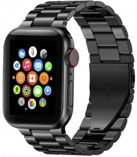 """Juoda apyrankė Apple Watch 4 / 5 / 6 / 7 / SE (42 / 44 / 45 mm) laikrodžiui """"Tech-Protect Stainless"""""""
