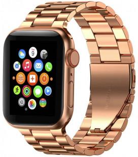 """Rausvai auksinės spalvos apyrankė Apple Watch 1/2/3/4/5/6 (38/40mm) laikrodžiui """"Tech-Protect Stainless"""""""