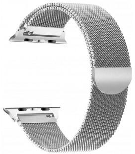 """Sidabrinės spalvos apyrankė Apple Watch 4 / 5 / 6 / 7 / SE (42 / 44 / 45 mm) laikrodžiui """"Tech-Protect Milaneseband"""""""