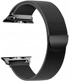 """Juoda apyrankė Apple Watch 4 / 5 / 6 / 7 / SE (42 / 44 / 45 mm) laikrodžiui """"Tech-Protect Milaneseband"""""""