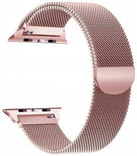 """Rausvai auksinės spalvos apyrankė Apple Watch 4 / 5 / 6 / 7 / SE (42 / 44 / 45 mm) laikrodžiui """"Tech-Protect Milaneseband"""""""