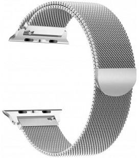 """Sidabrinės spalvos apyrankė Apple Watch 4 / 5 / 6 / 7 / SE (38 / 40 / 41 mm) laikrodžiui """"Tech-Protect Milaneseband"""""""