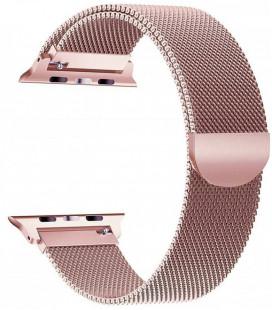 """Rausvai auksinės spalvos apyrankė Apple Watch 4 / 5 / 6 / 7 / SE (38 / 40 / 41 mm) laikrodžiui """"Tech-Protect Milaneseband"""""""
