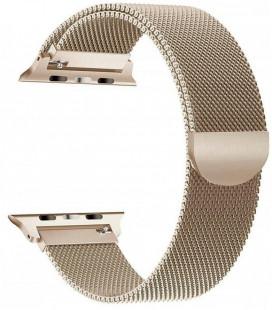 """Auksinės spalvos apyrankė Apple Watch 4 / 5 / 6 / 7 / SE (38 / 40 / 41 mm) laikrodžiui """"Tech-Protect Milaneseband"""""""