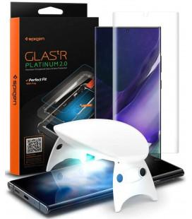"""Skaidrus apsauginis grūdintas stiklas Samsung Galaxy Note 20 Ultra telefonui """"Spigen Glas.TR Platinum"""""""