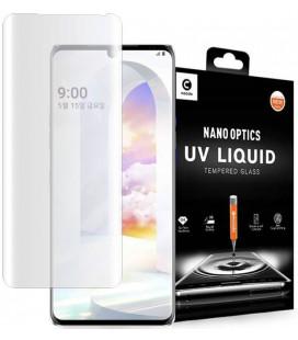 """Skaidrus apsauginis grūdintas stiklas LG Velvet telefonui """"Mocolo UV Glass"""""""