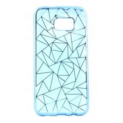 """Mėlynas silikoninis dėklas Samsung Galaxy S7 Edge G935F telefonui """"Metalic Slim Diamond"""""""