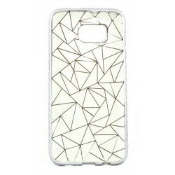 """Juodas silikoninis dėklas Samsung Galaxy S7 Edge G935F telefonui """"Metalic Slim Diamond"""""""