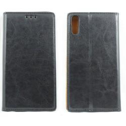 """Odinis juodas atverčiamas klasikinis dėklas Sony Xperia XZ/XZs telefonui """"Book Special Case"""""""