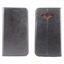 """Odinis juodas atverčiamas klasikinis dėklas Samsung Galaxy J3 2016 J310F telefonui """"Book Special Case"""""""