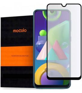 """Juodas apsauginis grūdintas stiklas Samsung Galaxy M31 telefonui """"Mocolo TG Full Glue"""""""