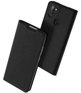 """Juodas atverčiamas dėklas Samsung Galaxy M11 telefonui """"Dux Ducis Skin Pro"""""""