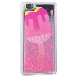 """Silikoninis dėklas su blizgučiais Apple iPhone 5/5s/SE telefonui """"Water Case Ice Cream"""""""