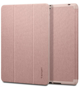 """Rausvai auksinės spalvos atverčiamas dėklas Apple iPad 10.2 2019 / 2020 / 2021 planšetei """"Spigen Urban Fit"""""""