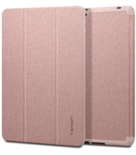 """Rausvai auksinės spalvos atverčiamas dėklas Apple iPad 7/8 10.2 2019/2020 plašetei """"Spigen Urban Fit"""""""