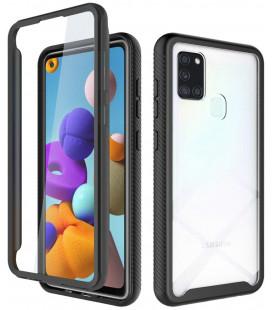 """Juodas dėklas Samsung Galaxy A21S telefonui """"Tech-protect Defense360"""""""