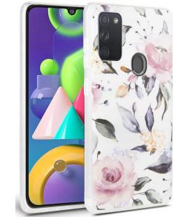 "Baltas dėklas Samsung Galaxy A21S telefonui ""Tech-protect Floral"""