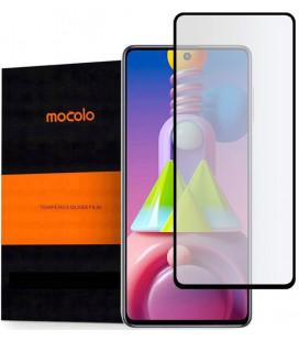 """Juodas apsauginis grūdintas stiklas Samsung Galaxy M51 telefonui """"Mocolo TG Full Glue"""""""