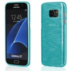 """Mėlynas silikoninis dėklas Samsung Galaxy S7 G930F telefonui """"Jelly Metallic"""""""