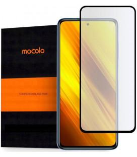 """Juodas apsauginis grūdintas stiklas Xiaomi Poco X3 NFC telefonui """"Mocolo TG Full Glue"""""""