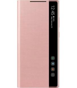 """Originalus bronzinės spalvos atverčiamas dėklas """"Clear View Cover"""" Samsung Galaxy Note 20 telefonui """"EF-ZN980CAE"""""""