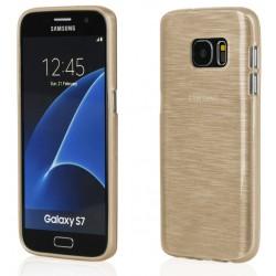 """Auksinės spalvos silikoninis dėklas Samsung Galaxy S7 G930F telefonui """"Jelly Metallic"""""""