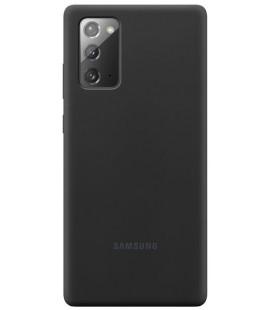"""Originalus juodas dėklas """"Silicone Cover"""" Samsung Galaxy Note 20 telefonui """"EF-PN980TBE"""""""