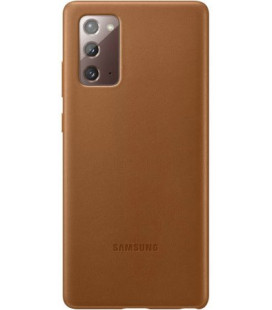 "Originalus rudas dėklas ""Leather Cover"" Samsung Galaxy Note 20 telefonui ""EF-VN980LAE"""