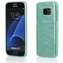"""Žalias silikoninis dėklas Samsung Galaxy S7 G930F telefonui """"Jelly Metallic"""""""