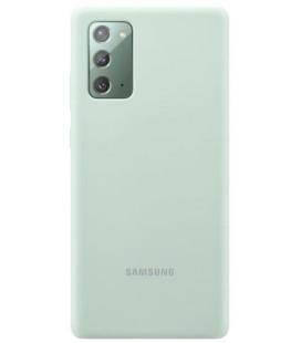 """Originalus žalias dėklas """"Silicone Cover"""" Samsung Galaxy Note 20 telefonui """"EF-PN980TME"""""""
