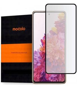 """Juodas apsauginis grūdintas stiklas Samsung Galaxy S20 FE telefonui """"Mocolo TG Full Glue"""""""