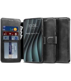 """Juodas atverčiamas dėklas HTC Desire 20 Pro telefonui """"Tech-protect Wallet"""""""