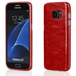 """Raudonas silikoninis dėklas Samsung Galaxy S7 G930F telefonui """"Jelly Metallic"""""""