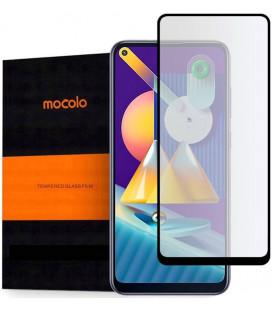 """Juodas apsauginis grūdintas stiklas Samsung Galaxy M11 telefonui """"Mocolo TG Full Glue"""""""