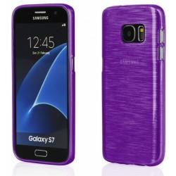 """Violetinis silikoninis dėklas Samsung Galaxy S7 G930F telefonui """"Jelly Metallic"""""""