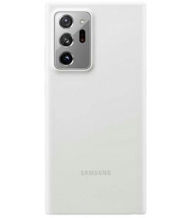 """Originalus baltas dėklas """"Silicone Cover"""" Samsung Galaxy Note 20 Ultra telefonui """"EF-PN985TWE"""""""