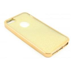"""Auksinės spalvos silikoninis blizgantis dėklas Apple iPhone 5/5s/SE telefonui """"Glitter Case Elektro"""""""