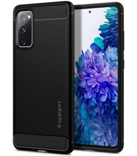 "Juodas dėklas Samsung Galaxy S20 FE telefonui ""Spigen Rugged Armor"""