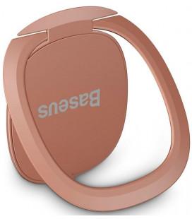 """Rausvai auksinės spalvos universalus telefono laikiklis ant piršto - žiedas """"Baseus Invisible Magnetic"""""""