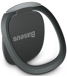 """Juodas universalus telefono laikiklis ant piršto - žiedas """"Baseus Invisible Magnetic"""""""