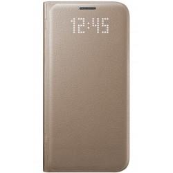 """Originalus atverčiamas auksinės spalvos dėklas """"LED View Cover"""" Samsung Galaxy S7 G930F telefonui ef-ng930pfe"""