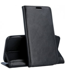 """Juodas atverčiamas dėklas Xiaomi Redmi 9 telefonui """"Smart Magnetic"""""""