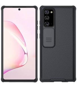"Juodas dėklas Samsung Galaxy Note 20 telefonui ""Nillkin CamShield Pro Hard Case"""