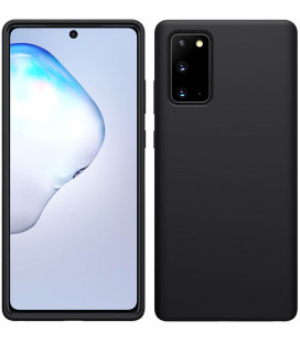 "Juodas dėklas Samsung Galaxy Note 20 telefonui ""Nillkin Flex Pure Liquid Silicone Cover"""