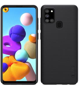 "Juodas dėklas Samsung Galaxy A21S telefonui ""Nillkin Frosted Shield"""