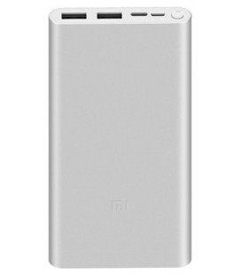 """Sidabrinės spalvos išorinė baterija 10000mAh """"Xiaomi Mi PowerBank 3 Fast Charge"""""""