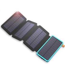 """Saulės energijos 7.5W kroviklis su išorine baterija 20000mAh """"Allpowers XD-SC-010-BBLU"""""""